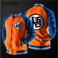 AILOGGE 2017 Anime Dragon Ball Z GoKu Master Roshi Cosplay Unisex Men Sweatshirt Hip Pop Sudaderas Hombre Baseball Jacket