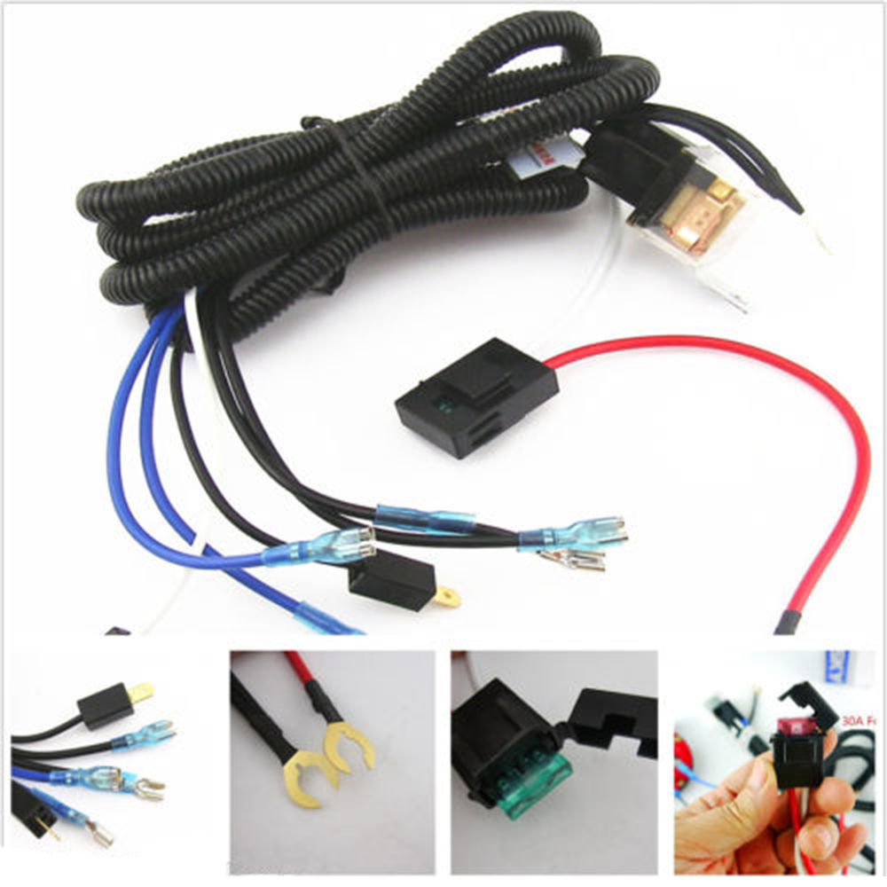 small resolution of universal 12v horn relay wiring harness kit for grille mount blast tone horns car truck relay fuse high quality in cables adapters sockets from