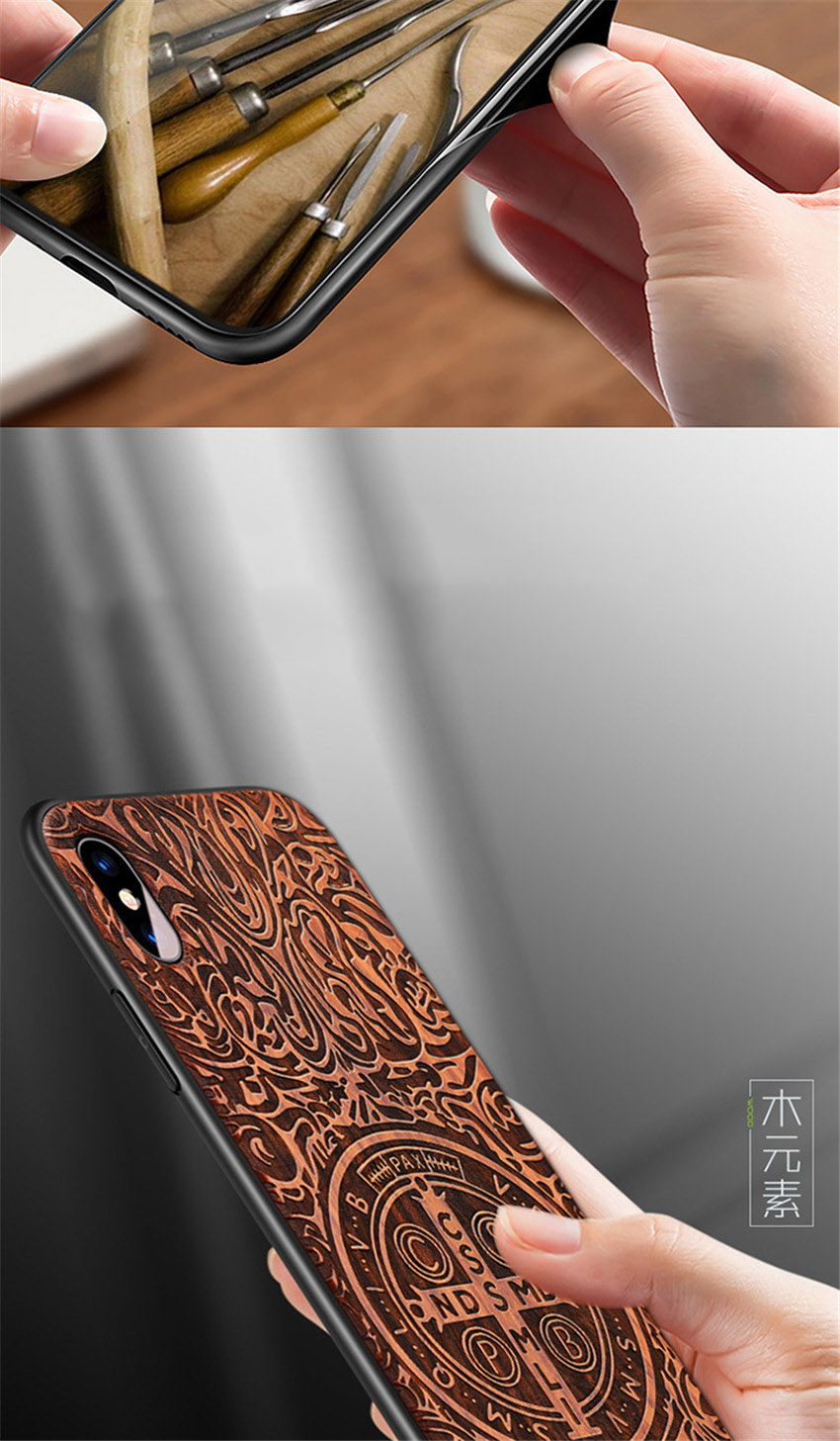 2018 New For iPhone XS Max Case Slim Wood Back Cover TPU Bumper Case For iPhone X iPhone XS Phone Cases (6)