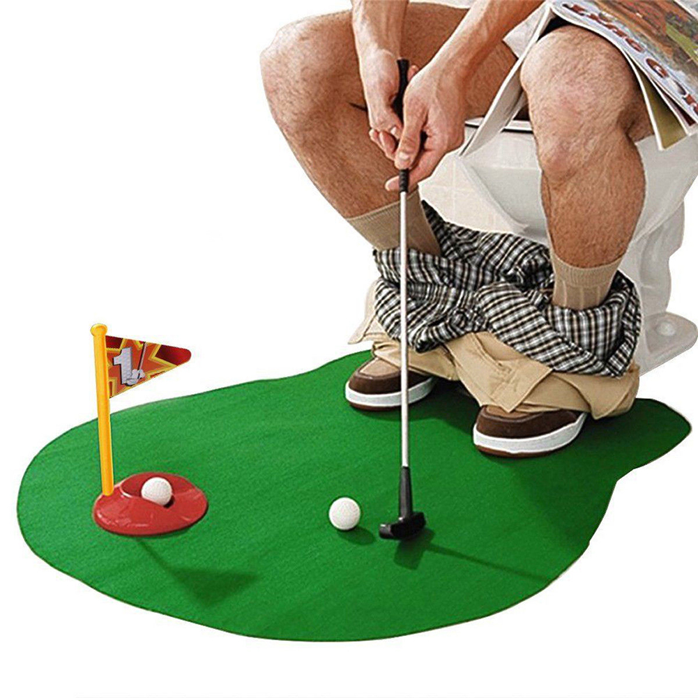 Special Gift Putter Toilet Golf Game Mini Golf Set Toilet Golf Putting Green Novelty Game For Men And Women Practical Jokes