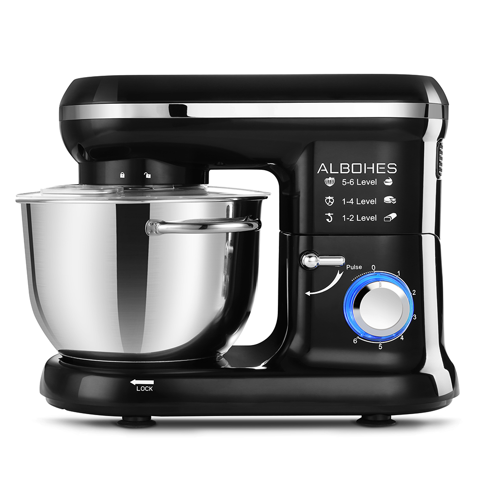 Image 3 - ALBOHES SM 1301Z Pro 5.5L 600W Bowl Lift Stand Mixer Portable Blenders Food Processor 6 Speed Settings Kitchen Appliances-in Blenders from Home Appliances