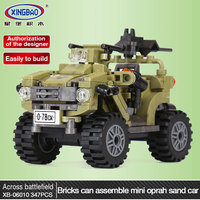 Genuine XINGBAO 06010 Military Series The Oprah Sand Car Set Legoing Building Blocks Bricks Army Soldiers