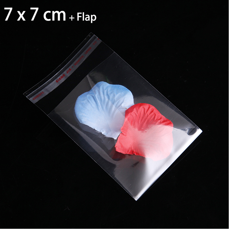 200pcs 7cm x 7cm CLEAR SMALL GIFT POUCHES 2.76