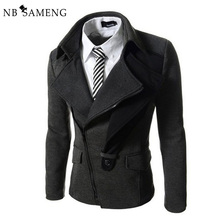2017 New Fashion Mens England Style Casual Blazer Masculino Solid Suit Jacket Slim Fit Blazers Men Coat Dress Jackets 13M0461