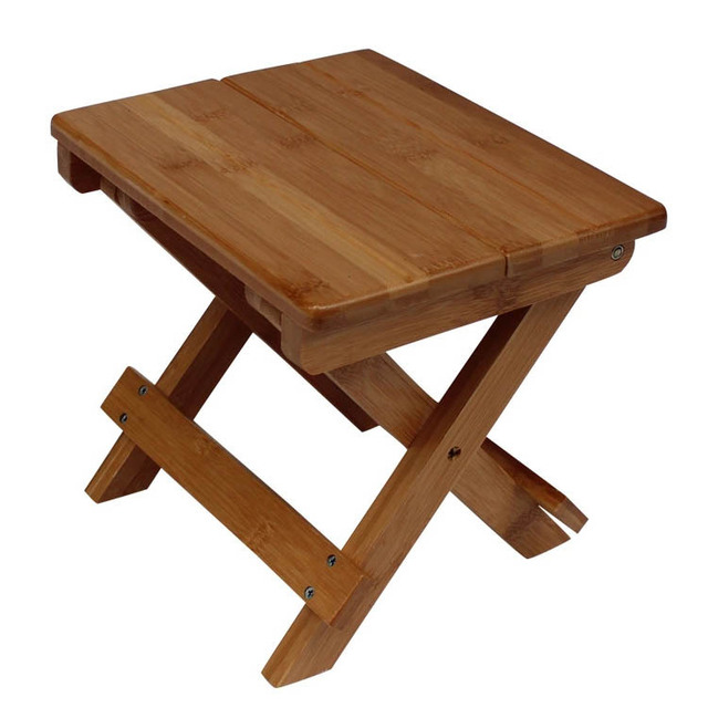 Bamboo Folding Small Square Benches Phoebe Casual Stool Leisure Stool  Environmental Classical Furniture Kids Chair