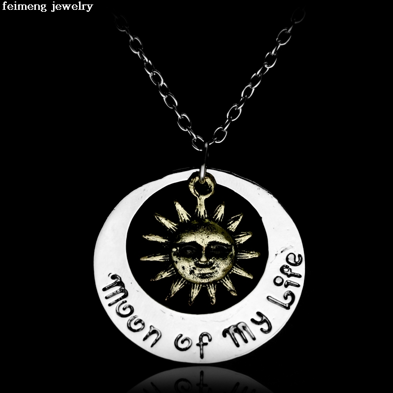 Wholesale game of thrones necklace song of ice and fire vintage khal khaleesi moon of my life my sun and stars pendant jewelry