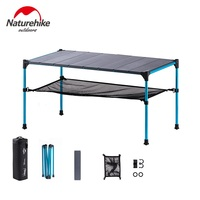 Naturehike Portable Foldable Free Splicing Folding Table Desk for Outdoor Camping Picnic, Aluminium Alloy