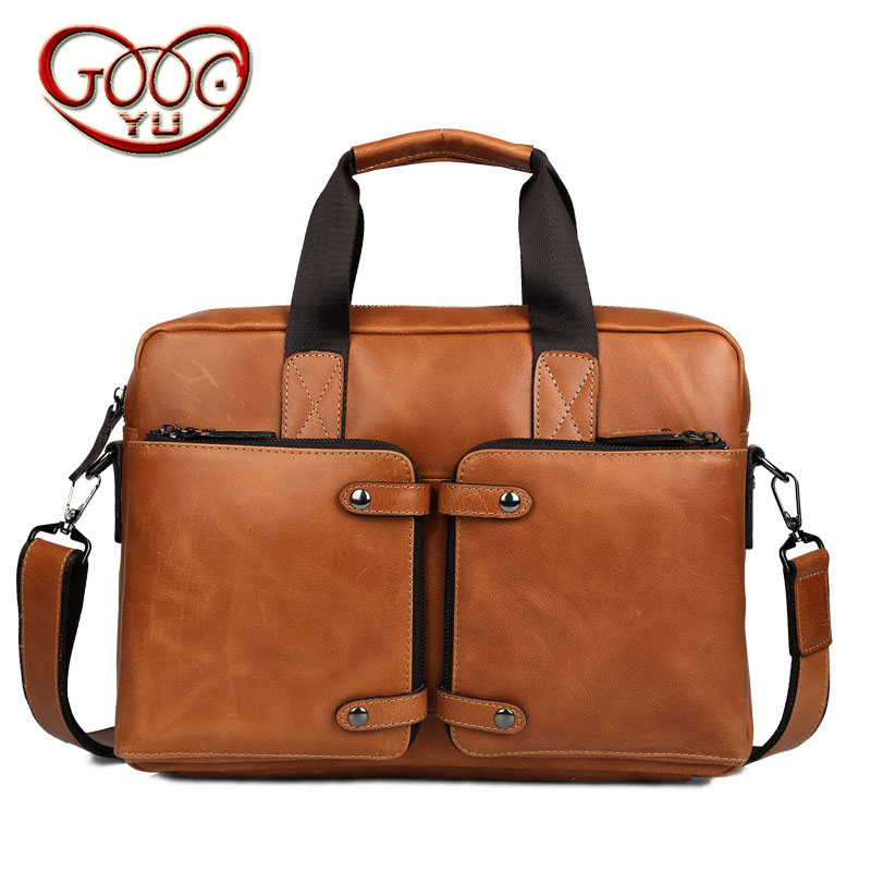 High-grade wax leather briefcase leather handbag business mens leather computer bag cross section square messenger bagHigh-grade wax leather briefcase leather handbag business mens leather computer bag cross section square messenger bag