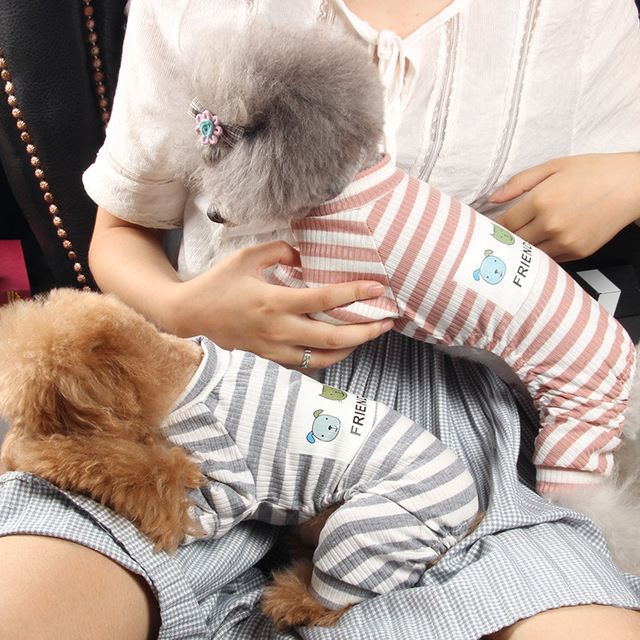 Striped Jumpsuit for Dogs 2