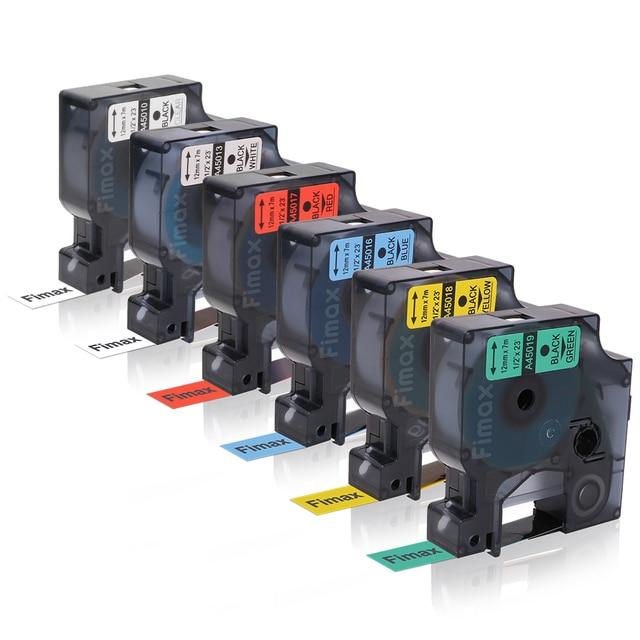 Online-Fimax 6 Pcs Compatible Dymo D1 Standard Label Tape