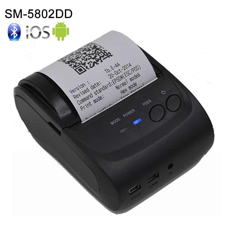 2Inch Gözləmə müddəti 5 ~ 7 gün Android 4.2.2 Bluetooth Simsiz Mobil 58 mm Mini Termal Qəbul Yazıcısı SDK ilə Portativ