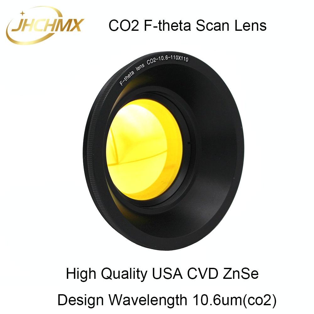Co2 F theta Scan Lens Field Lens 10.6um Dia.48mm Thread M85X1 110x110mm FL.100 592mm for Co2 Laser Marking Machine Parts