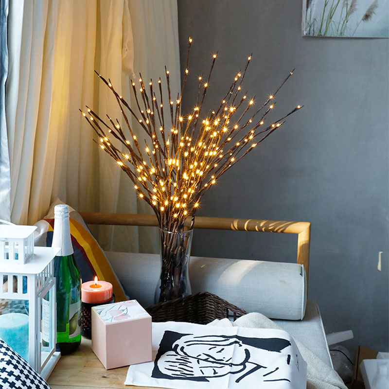 2018 New Modern Branch Lamp Floral Light 20LED AA Battery Powered Willow Branch Fairy Light Vase Coffe Bar Wedding Holiday Decor (9)