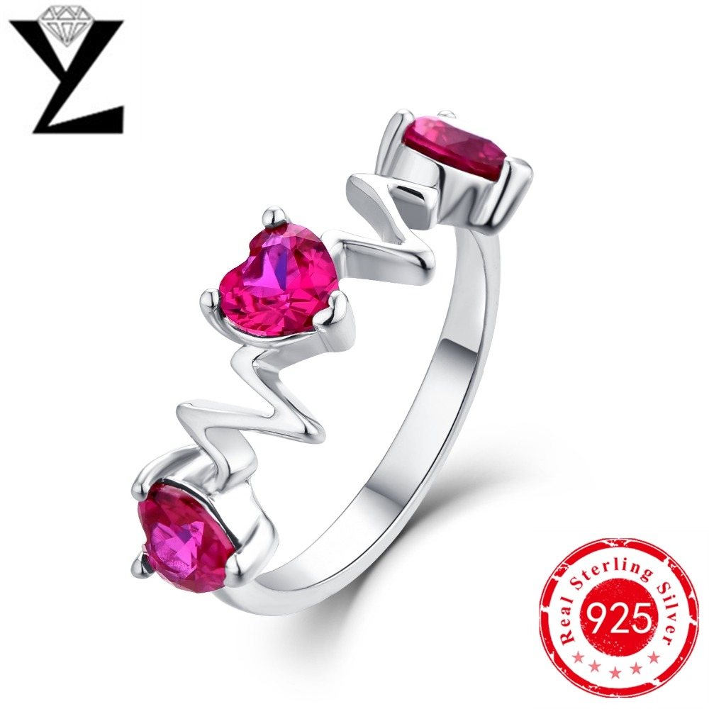 Heart Shape 925 Sterling Silver Jewelry Ring Aaa Level Cz Wedding Band Engagement  Rings For Women