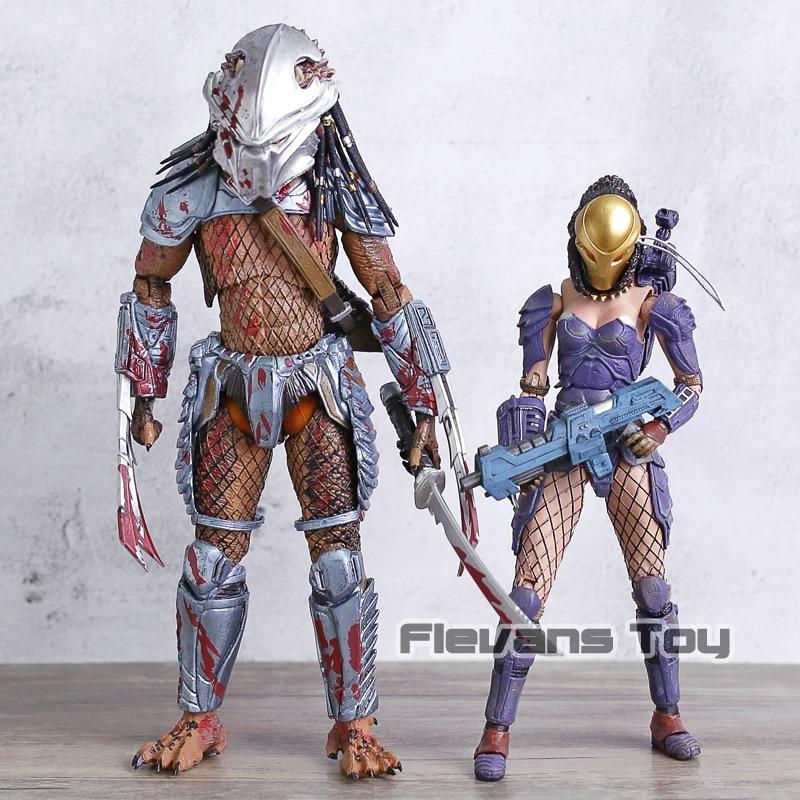 2 pièces/ensemble Alien VS prédateur Hornhead prédateur/Machiko Noguchi PVC Figurine jouet mobile modèle Figurine cadeau