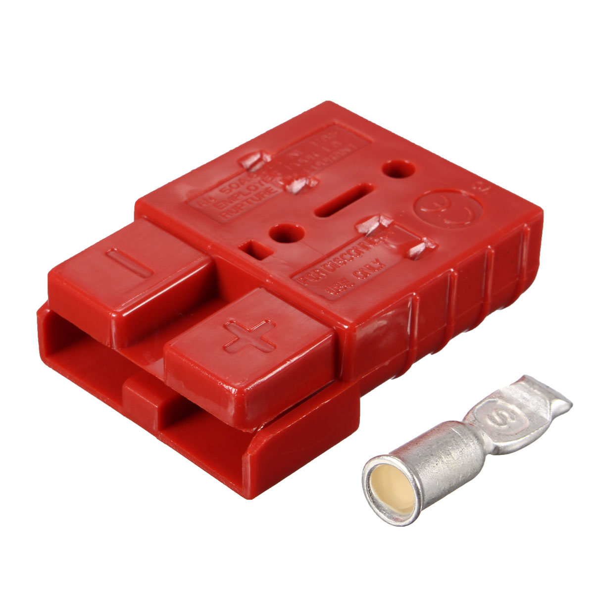 50A 8AWG Battery Quick Connector Plug Connect Disconnect Winch Trailer Red New Electric