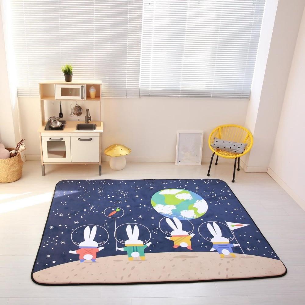 150X200CM Cartoon Rabbit Carpet Kids Room Soft Fleece Bedroom Carpet Sofa Living Room Rug Children Crawling Tatami Floor Mat