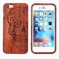 Оригинал Настоящее Дерево Бамбук Case Для Apple Iphone 6/6 S/6 плюс/6 s plus с Мода роскошный последователем тиснением шаблон wooden case