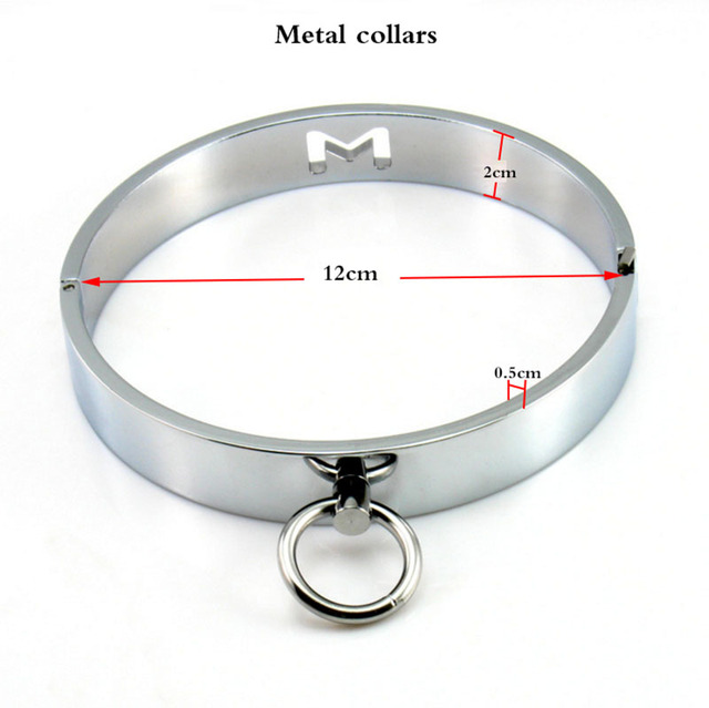 Metal stainless steel collars for women Fetish adult BDSM bondage restrictions Sexual supplies Collar sex toys for women 611