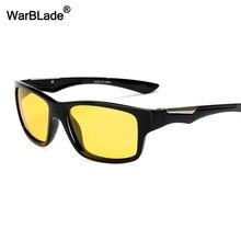WarBLade новые желтые поляризованные солнцезащитные очки для мужчин ночного видения вождения солнцезащитные очки с антибликовым покрытием автомобиля водители очки для мужчин