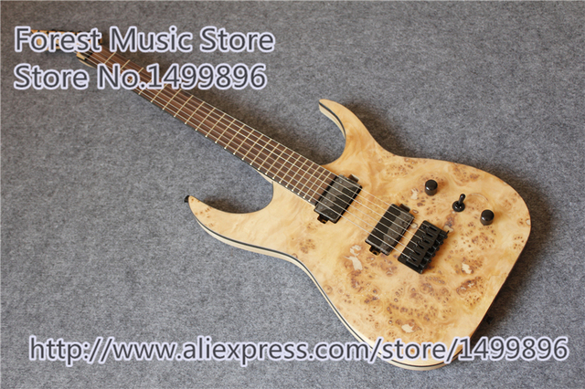 Cheap New Arrival Blackmachine 6 String Electric Guitar Chinese Burl Finish Ash Body As Picture For Sale