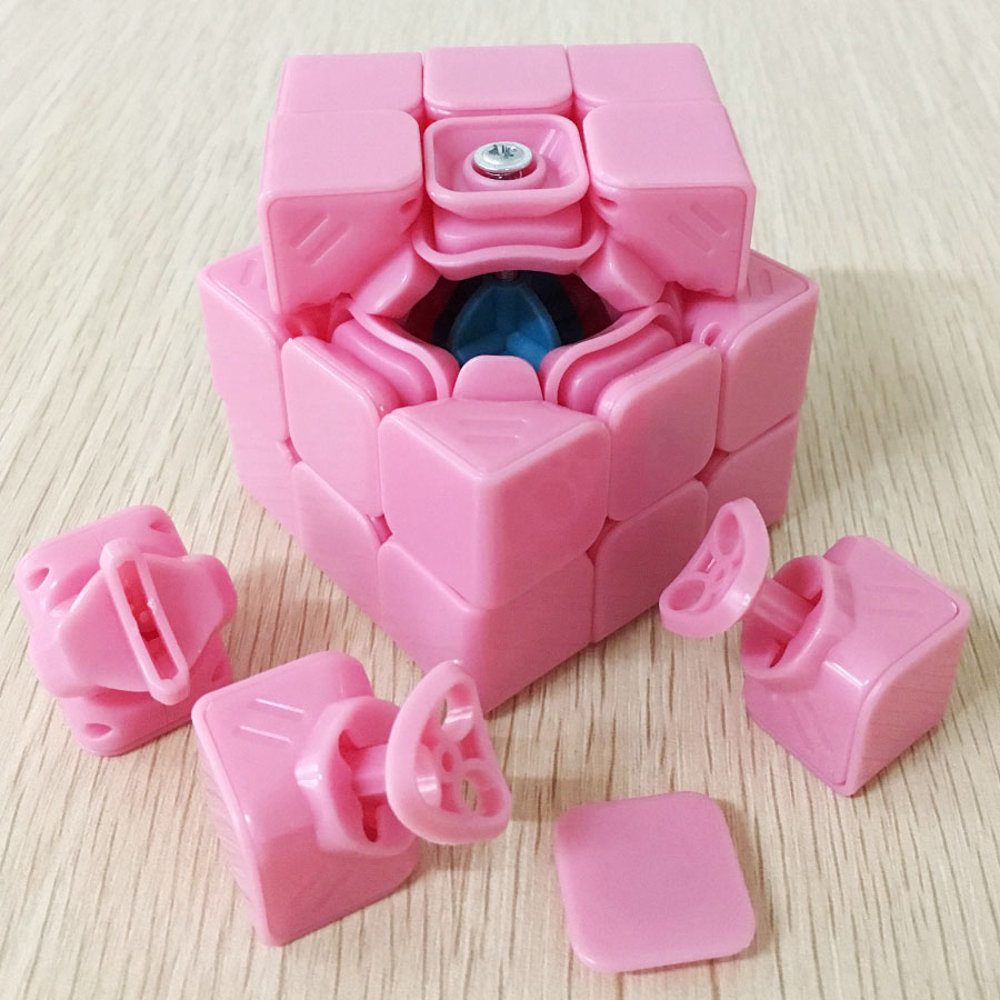 Puzzles & Games Orderly Fangshi Magic Cube 5.7cm Guangying 3x3x3 Speedcube Pink Limited Version Puzzle Cubes Special Toys For Children Collection