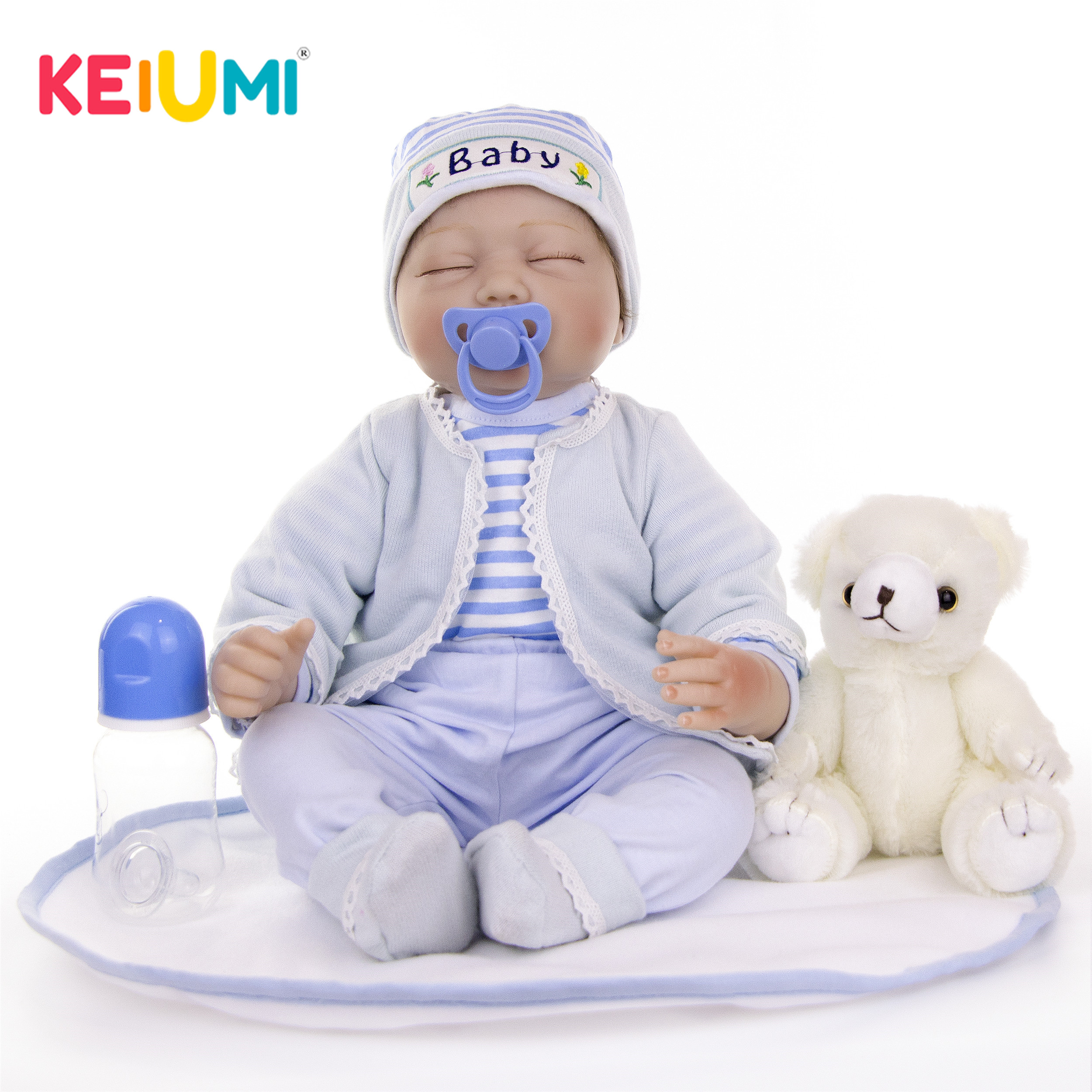 22 Inch Silicone Soft Reborn Baby Boy Doll Lifelike Closed Eyes Dolls Babies Alive Toy Toddler Birthday Gift Bedtime Playmate Dolls Aliexpress