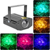 Mini RGB LED woda zmarszczki etap projektor świetlny laserowy KTV DJ Disco lampa efekt oświetlenia scenicznego dekorację na imprezę świąteczną w Oświetlenie sceniczne od Lampy i oświetlenie na