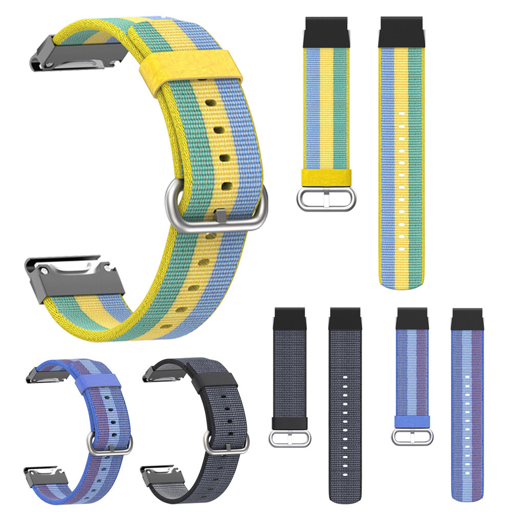 Nylon Strap Replacement Quick Release Easy Fit Watchband for Garmin Fenix 5 Plus watch strap silicone 22mm watch band rubber hot sale nylon strap 5 ring watch band strap replacement for garmin fenix 3 watchband green black casual watchbands