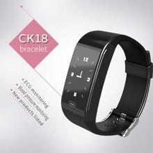 Dmyco CK18 ЭКГ ppg сердечный ритм измерять кровяное давление сна Мониторинг Смарт запястье Bluetooth Спорт Браслет фитнес-часы для Xiaomi