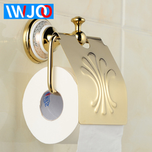 Toilet Paper Holder Cover Waterproof Copper Ceramic Paper Towel Holder Wall Mounted Toilet Tissue Roll Paper Holder Rack Gold for chrysler citroen volvo electronic throttle accelerator 9 mode controller wind booster