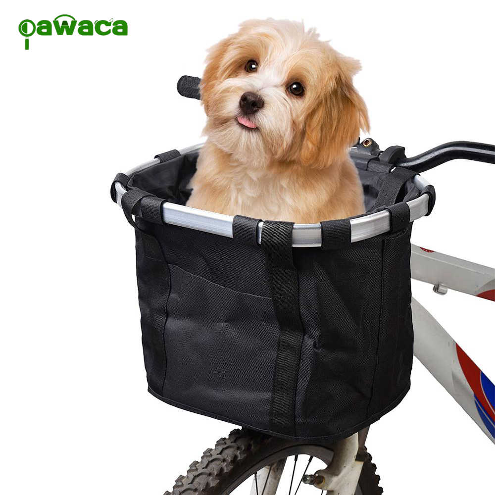 Pets Cat Seat Dog Bicycle Basket Pets Seat Bicycle Basket Front Removable Bike Basket Carrier Bag Cycling Accessories