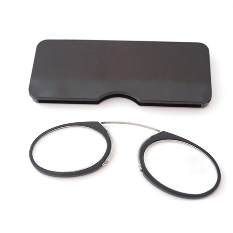 Pinch Nose Reading Luxury Light Glasses Presbyopic Eyewear Men With Case