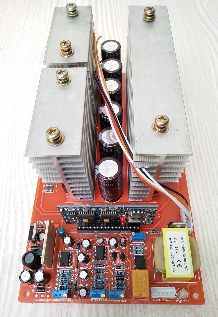 medium resolution of the real inverter wiring diagram double line 48v is positive double green battery two small transformer radiator