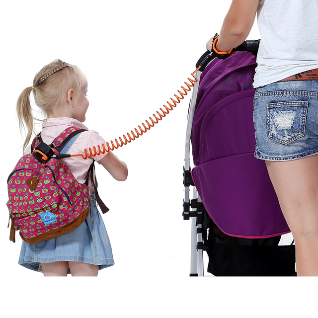 1.5m 2.5m Toddler Baby Kids Safety Walking Harness, Child Leash Strap Kids Keeper Belt, Anti Lost Wrist Link Band Traction Rope 5