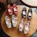 Party girls shoes crianças crianças vestido da menina princesa de couro do bebê sapato primavera moda outono tamanho 26 ~ 30 para 3 ~ 7 anos 2017 KK19