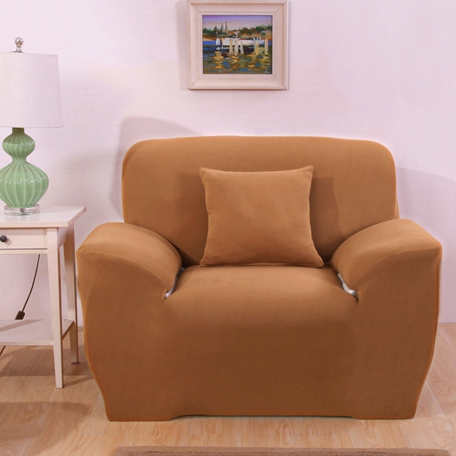 US $37.0  Light Brown Corner Sofa Covers For Living Room Universal Stretch  Furniture Covers Multi size Elastic L shape sofa covers plush-in Sofa Cover  ...