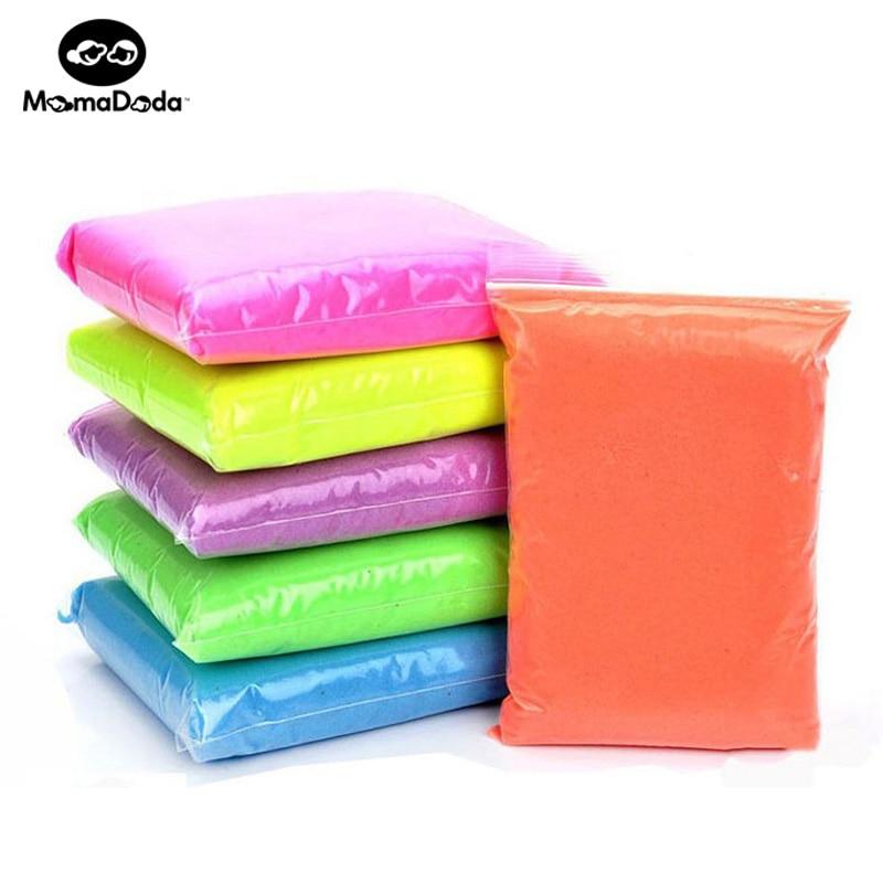 500g 다이나믹 샌드 6Colors Polymer 점토 어린이를위한 - 학습 및 교육