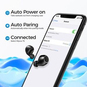 Image 2 - Mpow écouteurs Bluetooth T6 5.0 TWS, écouteurs sans fil, Mini oreillettes, IPX7, étanche avec 21 H, contrôle tactile