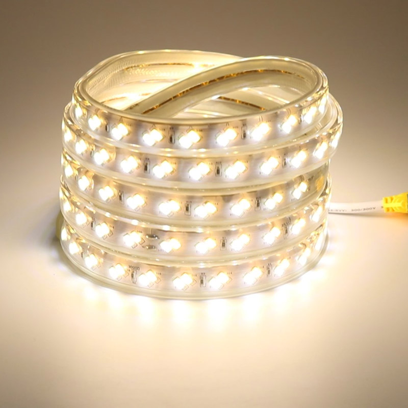 Waterproof LED Flex Strip 220 Volt Tape for Bedroom Kitchen Office Hotel Shopping Mall Plaza Lights Lighting 5m 15m 20m 50m 100m