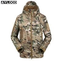 Lurker Camo Shark Skin Soft Shell V4 Military Tactical Jacket Men Waterproof Windproof Warm Coat Hooded