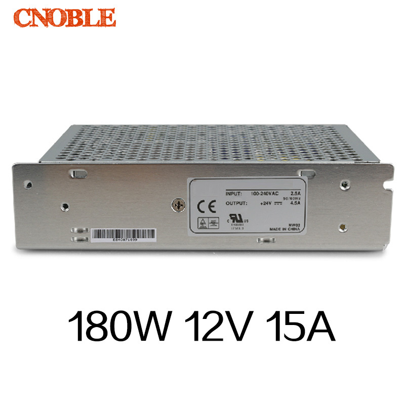 180W 12V 15A Single Output Switching power supply for LED Strip light AC to DC single output dc 24v 25a 600w switching power supply for led light strip 110v 240v ac to dc24v smps with cnc electrical equipmen