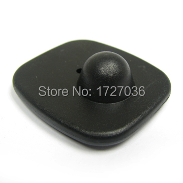 Black color Eas Small square hard tag 46mm*42mm RF Security Label 1000pcs/lot