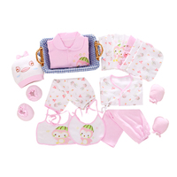 2016 New 100 Cotton 18pcs Set New Born Underwear Clothes Sets High Quality Newborn Baby Clothing
