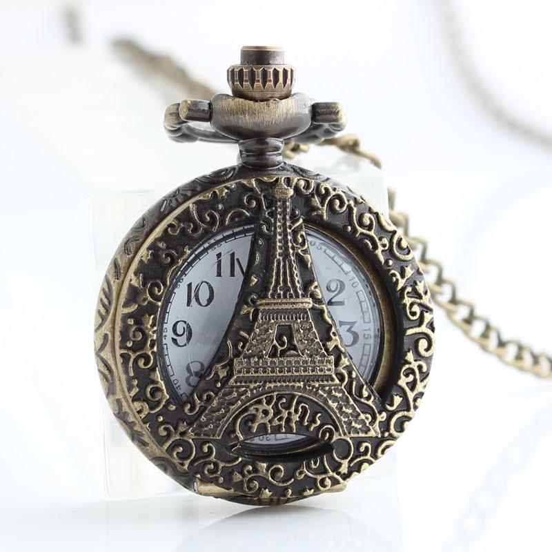 12 stks / partij Antiek Brons Zakhorloges FOB Horloges Mannen Vrouwen - Zakhorloge - Foto 2
