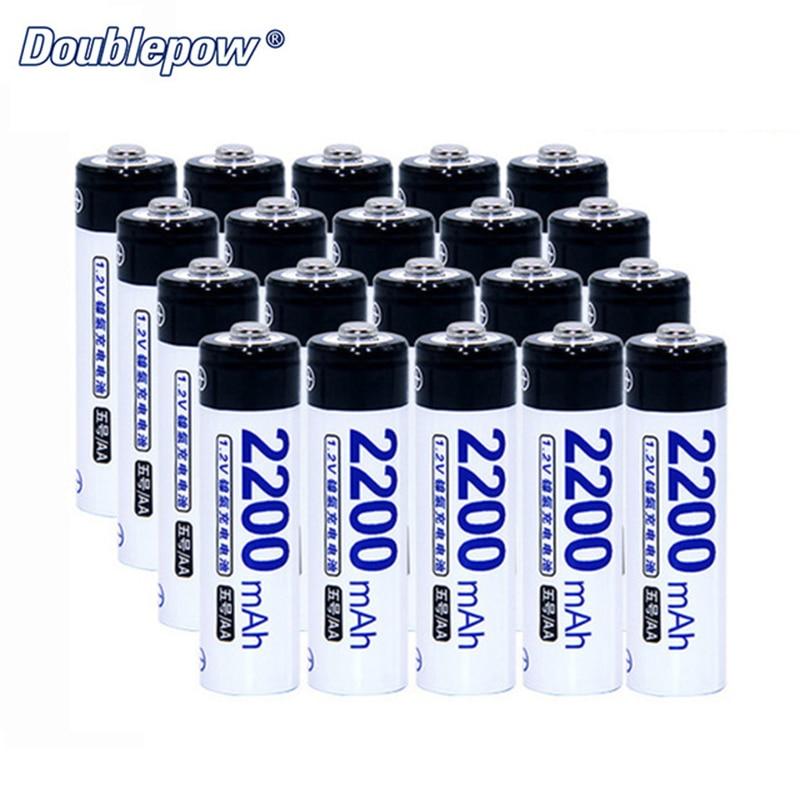 Doublepow Rechargeable AA Battery DP-AA2200mAh Ni-MH 1.2V 2200mAh Rechargeable Batteries AA for Li-ion Battery AA D026