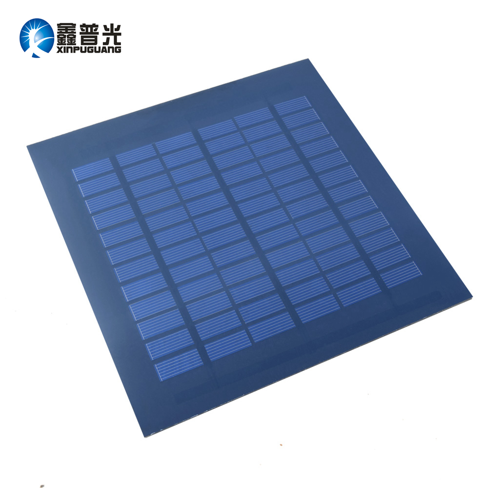 Xinpuguang 18v 3w DIY mini solar panel 200*200mm cell Polysilicon module for kit battery toy pump motor outdoor power charger