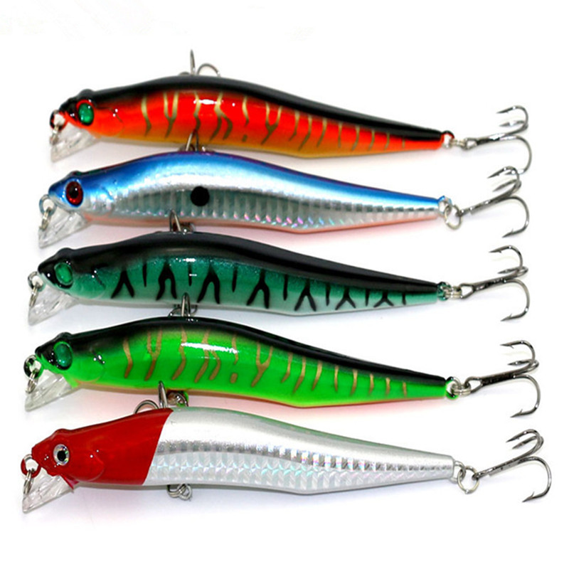 KKWEZVA Sosire 1pc Minnow 12cm 10g pesca Diving Momeală artificială - Pescuit