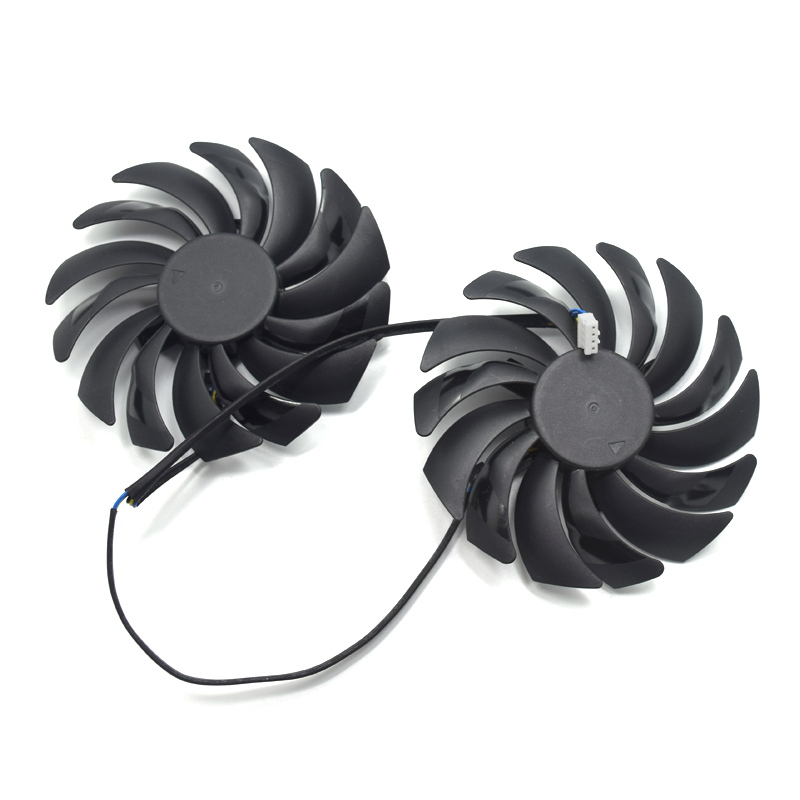 2pcs/lot GTX1080 GTX1070 GTX1060 GPU Cooler Fans 95mm For MSI GTX 1080/1070/1060/GTX1050 GAMING GPU Graphics Card Cooling цена