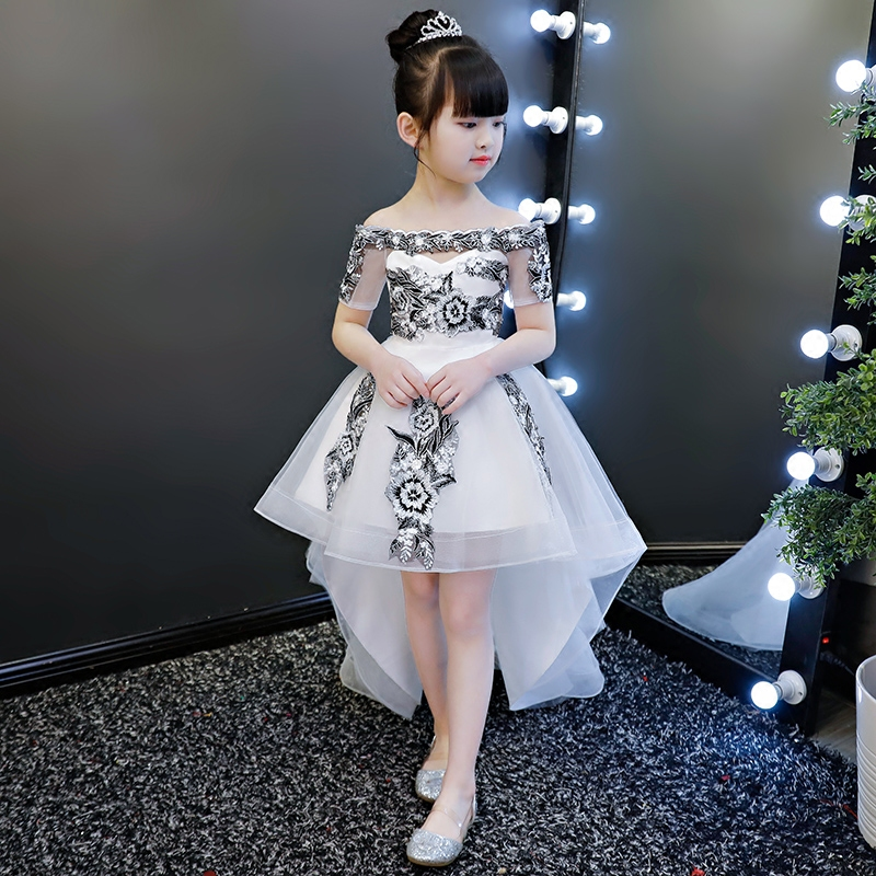 2019 New Teenage Girl Dresses Long Formal Prom Gown For Kids Girls Clothing Wedding Party Tutu Dress Christmas Party Children